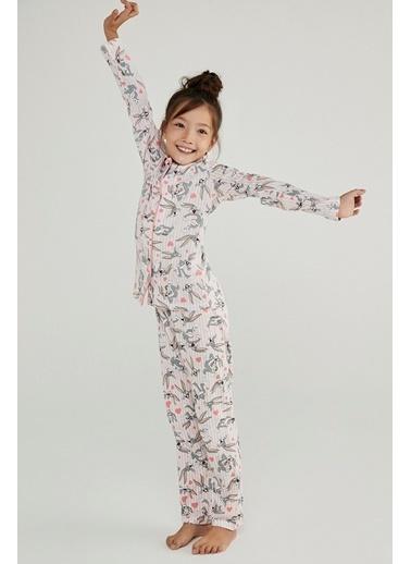 Penti Kız Çocuk Pink Bugs 2Li Pijama Takımı Pembe